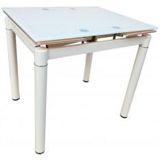 Стол кухонный раскладной стеклянный бежевый сатин DAOSUN DSТ 020
