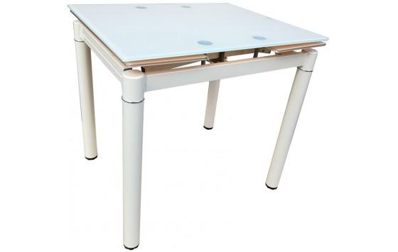Стол кухонный раскладной стеклянный бежевый матовый DAOSUN DST 020