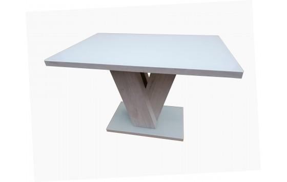 Стол обеденный нераскладной стеклянный с МДФ белый DAOSUN DST 402