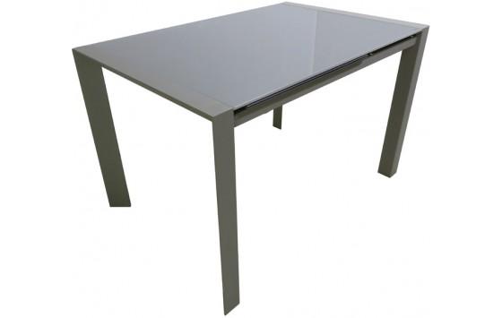 Стол кухонный раскладной стеклянный серо-бежевый DAOSUN RF 1055 ADT