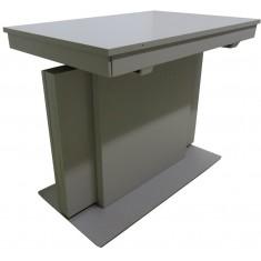 Стол обеденный трансформер МДФ серо-бежевый DAOSUN RF 6301 DT