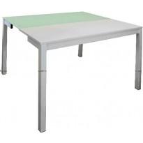 Стол кухонный раскладной стеклянный белый DAOSUN B 2221