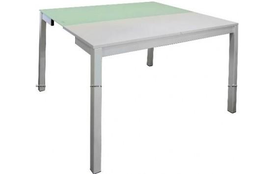 Стіл кухонний розкладний скляний білий DAOSUN B 2221
