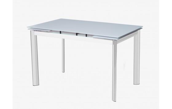 Стіл кухонний розкладний скляний білий DAOSUN DST 017