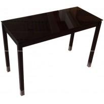 Стол кухонный раскладной стеклянный черный DAOSUN B 2221