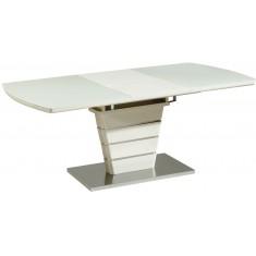 Стол обеденный раскладной стеклянный с МДФ серо-бежевый DAOSUN DSТ 404