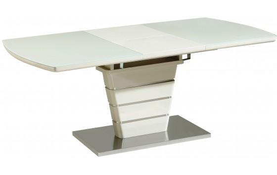Стол обеденный раскладной стеклянный с МДФ серо-бежевый DAOSUN DST 404