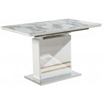 Стол обеденный раскладной стеклянный с МДФ мрамор DAOSUN DSТ 415