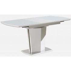 Стол обеденный раскладной стеклянный с МДФ белый DAOSUN DST 008