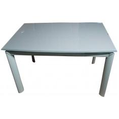 Стол кухонный раскладной стеклянный серо-бежевый DAOSUN DST 017
