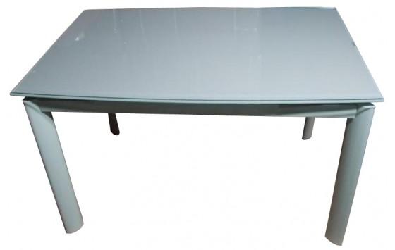 Стіл кухонний розкладний скляний сіро-бежевий DAOSUN DST 017