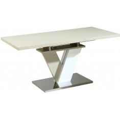 Стол обеденный раскладной стеклянный с МДФ белый дуб DAOSUN DSТ 402