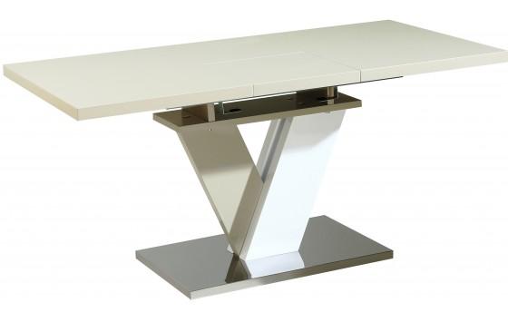 Стол обеденный раскладной стеклянный с МДФ белый DAOSUN DST 402