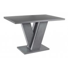Стол обеденный нераскладной стеклянный с МДФ графит матера сатин DAOSUN DT 402 U..