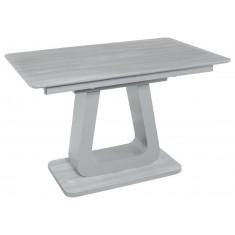 Стол обеденный раскладной стеклянный с МДФ серый дуб сатин DAOSUN DT 8104