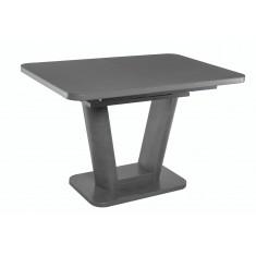 Стол обеденный раскладной стеклянный с МДФ графит матера сатин DAOSUN DT 8104 U