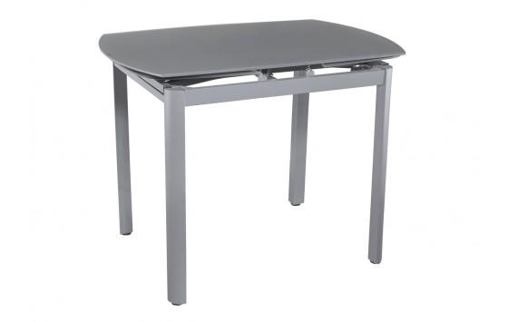 Стол кухонный раскладной стеклянный серый сатин DAOSUN DT 8109