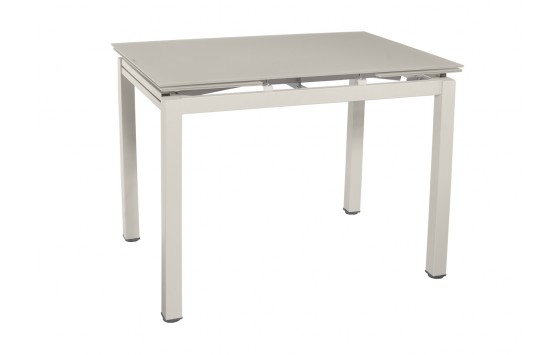 Стол обеденный раскладной стеклянный шампань DAOSUN DT 8110