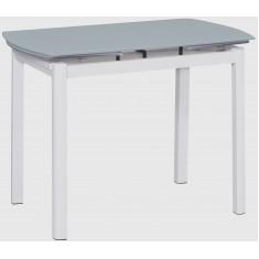 Стіл кухонний розкладний скляний білий сатин DAOSUN DST 102