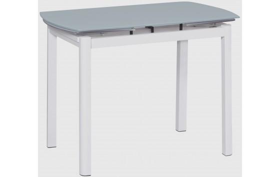 Стол кухонный раскладной стеклянный белый сатин DAOSUN DSТ 102
