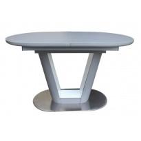 Стіл обідній розкладний скляний з МДФ сірий сатин DAOSUN DT 8105