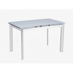 Стіл кухонний розкладний скляний білий сатин DAOSUN DST 017