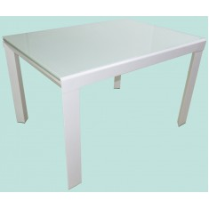 Стіл кухонний розкладний скляний білий DAOSUN RF 1 078 1DT
