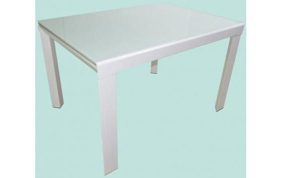 Стол кухонный раскладной стеклянный белый DAOSUN RF 1078 1DT