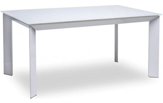Стол обеденный раскладной стеклянный белый DAOSUN DF 201 T