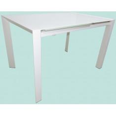 Стіл кухонний розкладний скляний білий DAOSUN RF 1 055 ADT