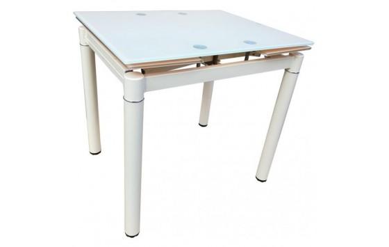 Стол кухонный раскладной стеклянный белый DAOSUN DST 020