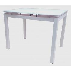 Стол кухонный раскладной стеклянный белый DAOSUN DST 101T