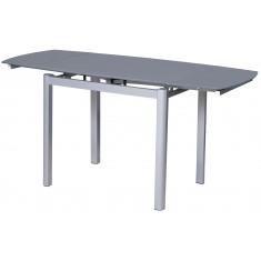 Стіл кухонний розкладний скляний сірий DAOSUN DST 102