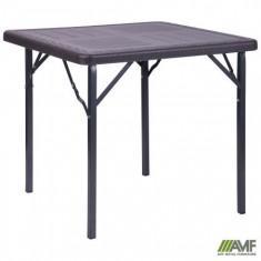 Стол складной Фиат WAK-78 78*78*70 пластик Wooden Brown