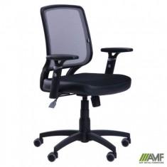 Кресло Онлайн сиденье Сетка черная/спинка Сетка серая