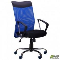 Крісло АЕРО HB Line Color сидіння Сітка чорна, Неаполь N-20 / спинка Сітка синя,..
