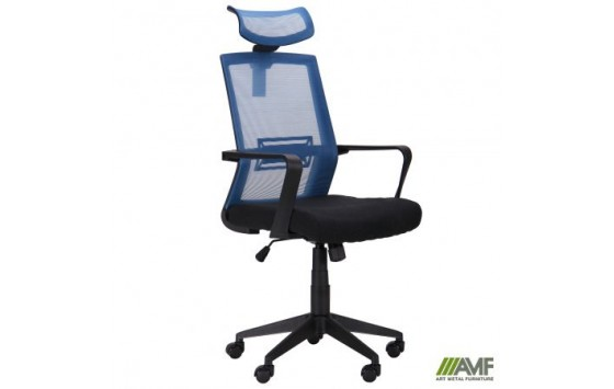 Кресло Neon светло-синий/черный