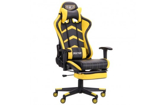 Крісло VR Racer Dexter Megatron чорний / жовтий