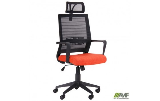 Кресло Radon черный/оранжевый
