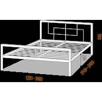 Ліжко односпальне Квадро