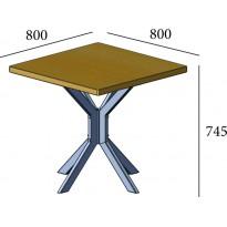 Стол обеденный Фолд квадратный